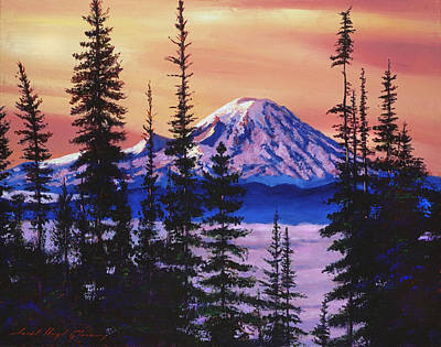 Mist Painting - Majestic Mount Baker by David Lloyd Glover
