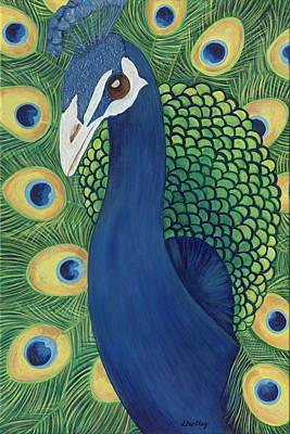 Painting - Majestic Peacock by Lisa Bentley