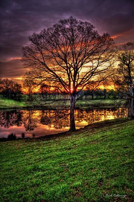 Majestic Sunrise Reflections Print by Reid Callaway