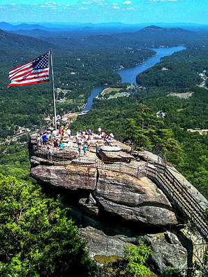 Majestic View Chimney Rock North Carolina Print by Reid Callaway