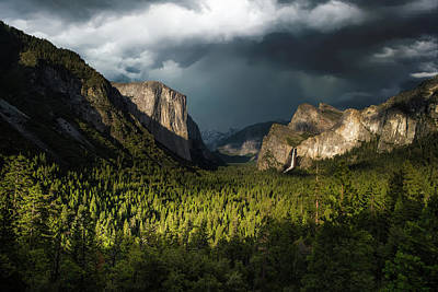 Majestic Yosemite National Park Print by Larry Marshall