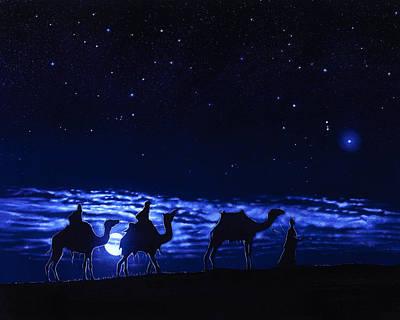 Camel Drawing - Maji by Tim Dangaran