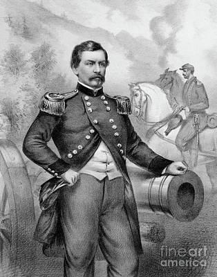 Major General George B Mcclellan Print by American School