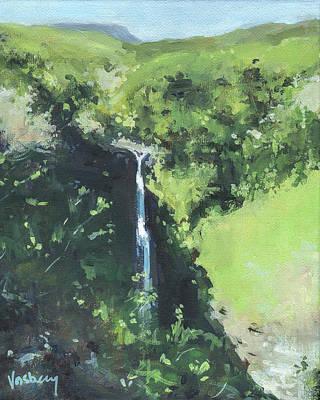 Haleiwa Painting - Makahiku Falls by Stacy Vosberg