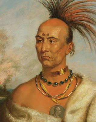 Blackhawk Painting - Makataimeshekiakiak  Black Hawk by Charles Bird King