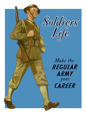Wwii Propaganda Painting - Make The Regular Army Your Career by War Is Hell Store