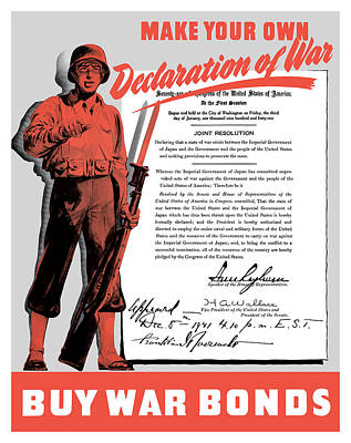 Wwii Propaganda Painting - Make Your Own Declaration Of War by War Is Hell Store