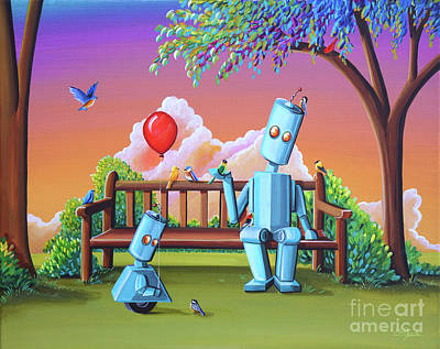 Making Friends Print by Cindy Thornton