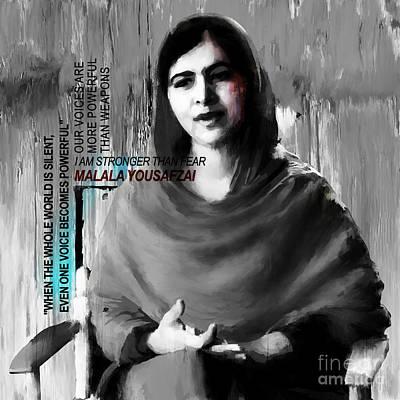 Figurative Painting - Malala Yousaf Zai 03 by Gull G