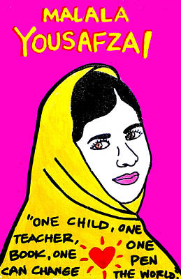 Education Painting - Malala Yousafzai by Chris Kruse