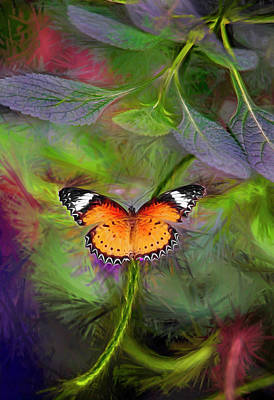 Moose Mixed Media Digital Art - Malay Lacewing  What A Great Place by James Steele