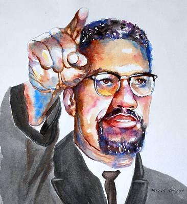 Malcolm X Print by Brian Degnon