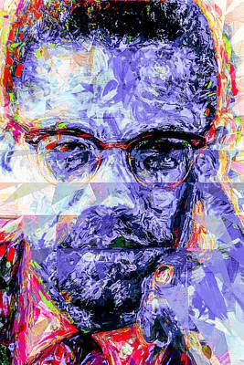 Malcolm X Digitally Painted 1 Print by David Haskett