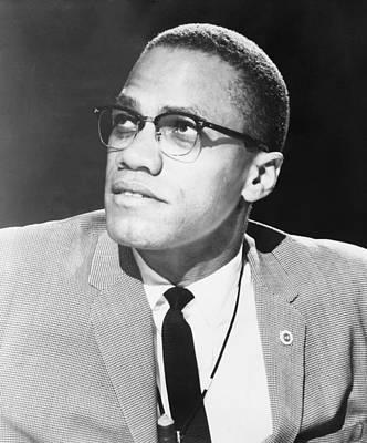 Malcolm X, Militant Black Muslim Civil Print by Everett