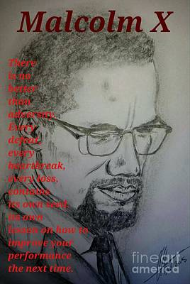Malcolm X- Quotes  Print by Collin A Clarke