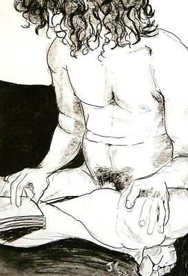 Male Crossed Legs Original by Joanne Claxton
