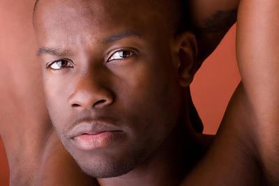Male Model Portrait In Color Print by Val Black Russian Tourchin