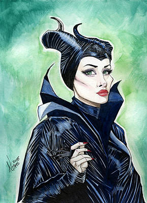 Maleficent Painting - Maleficent by Jimmy Adams