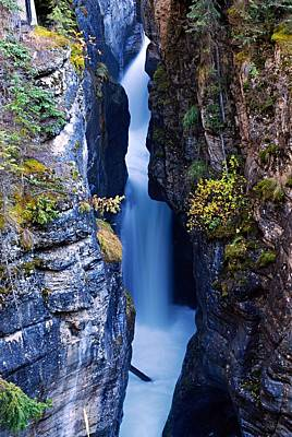 Cascade Canyon Photograph - Maligne Canyon by Larry Ricker