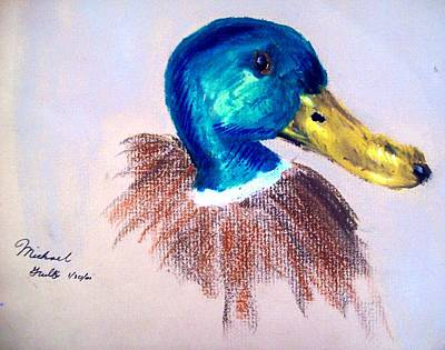 Goose Mixed Media - Mallard by Mike Grubb