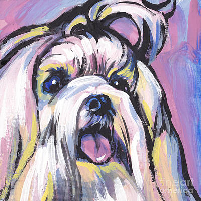 Puppy Painting - Malti Mania by Lea S