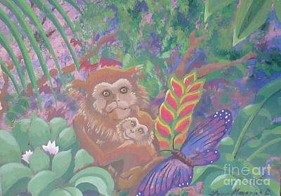 Painting - Mama, Baby, Jungle by Lynn Maverick Denzer