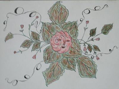 Joyful Drawing - Mama Rose And Her Babies by Sharyn Winters