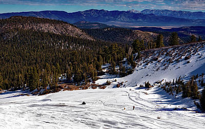 Snowmobile Photograph - Mammoth Lakes Ski Slope by Mountain Dreams
