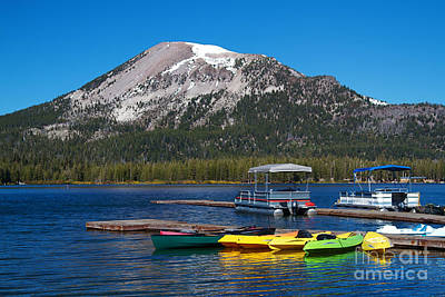 Mammoth Mountain California At Lake Mary Print by ELITE IMAGE photography By Chad McDermott