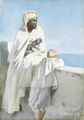 Zorn Painting - Man And Boy In Algiers by Celestial Images