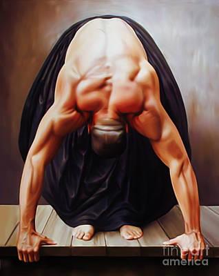Figurative Painting - Man Art 02  by Gull G