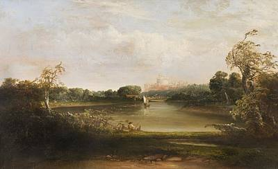 Man Fishing In A Stream Print by Thomas Doughty
