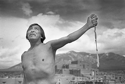 Native American Photograph - Man From Taos Pueblo by Buddy Mays