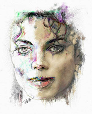 Michael Jackson Mixed Media - Man In The Mirror by Mark Tonelli