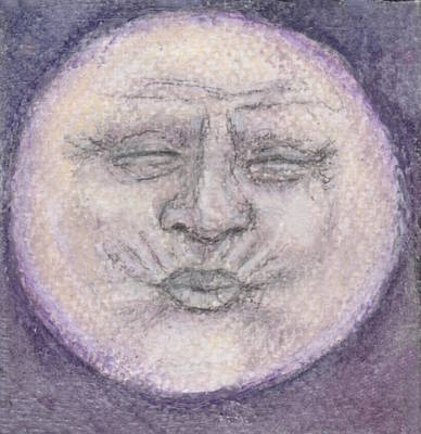 Man In The Moon No.4 Original by Jennie Hallbrown