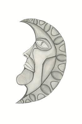 Man In The Moon Print by Sara Stevenson