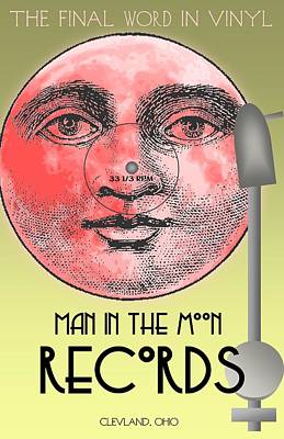Man In The Moon Print by Steven Boland