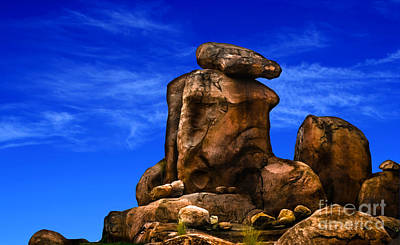 Photograph - Man Of Stone Rock Formation by Gary Keesler