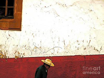 Patzcuaro Photograph - Man On A Patzcuaro Street by Mexicolors Art Photography