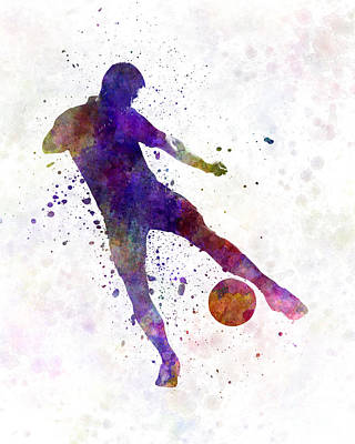 Man Soccer Football Player 02 Print by Pablo Romero
