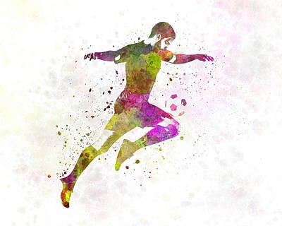 Man Soccer Football Player 12 Print by Pablo Romero