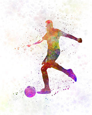 Man Soccer Football Player 16 Print by Pablo Romero