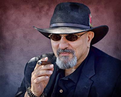 Man With Cigar Print by Nikolyn McDonald