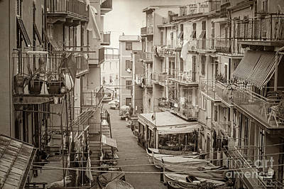 Manarola In Sepia Print by Prints of Italy