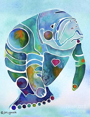 Manatee Painting - Manatee Blues by Jo Lynch