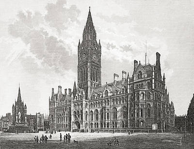 Manchester Town Hall, Manchester Print by Vintage Design Pics