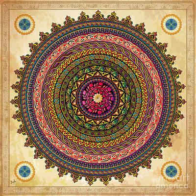 Mandala Armenian Decorative Art Print by Bedros Awak