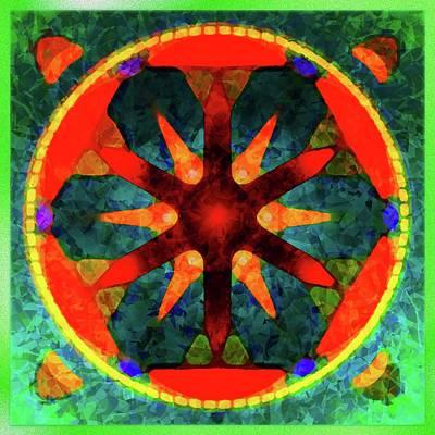 Digital Art - Mandala Joyful by Mario Carini