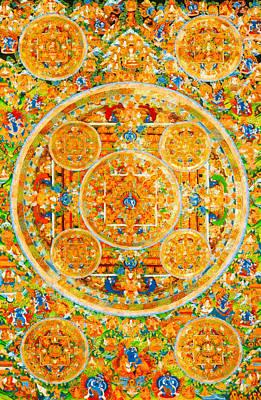 Siddharta Photograph - Mandala Of Heruka In Yab Yum And Buddhas 1 by Lanjee Chee