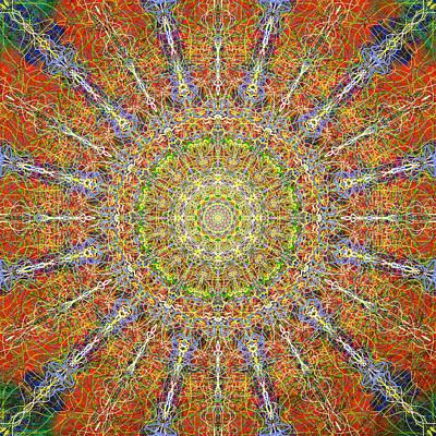 Mandala Of The Tonal Stone Wall Print by John Groves